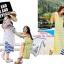 เสื้อผ้าเกาหลี พร้อมส่ง เดรสคอลเลคชั่น summer ลายขวางทรงสวย thumbnail 3