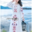 Fiona Easy Bohemian Style Embroidered Long Dress thumbnail 4