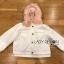 Emma Winter Big Fur-Hood White Denim Jacket thumbnail 7