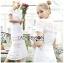 Meryl Basic Laser-Cut White Cotton Dress thumbnail 2