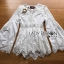เสื้อผ้าเกาหลีพร้อมส่ง เสื้อยาวผ้าคอตตอนสีขาวตกแต่งลูกไม้สไตล์วินเทจ thumbnail 13