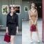 เสื้อผ้าเกาหลีพร้อมส่ง เซตเสื้อ+กระโปรง ผ้าลูกฟูก thumbnail 3