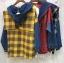 เสื้อผ้าเกาหลีพร้อมส่ง เสื้อแขนยาว ดีเทลช่วงตัวลายสก๊อต thumbnail 7
