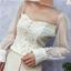 เสื้อผ้าเกาหลีพร้อมส่ง เสื้อครอปแขนยาวทรงคอร์เซ็ทลูกไม้เข้ารูป thumbnail 2