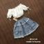 เสื้อผ้าเกาหลีพร้อมส่ง เซ็ตเสื้อเปิดไหล่สีขาว thumbnail 5