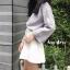 เสื้อผ้าเกาหลีพร้อมส่ง Smooch Sweater เสื้อไหมพรมแขนยาว thumbnail 4