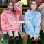 เสื้อผ้าเกาหลีพร้อมส่ง เสื้อกันหนาว oversize มีฮู้ดสีน่าร้าก thumbnail 3
