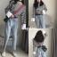 เสื้อผ้าเกาหลีพร้อมส่ง เสื้อคอกลม แขนยาว ลาย Stripe thumbnail 9