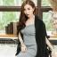 เสื้อผ้าแฟชั่นเกาหลีพร้อมส่ง เสื้อคลุมเบเซอร์สีดำ รุ่นนี้ทรงปล่อยๆ thumbnail 6