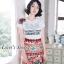 เสื้อผ้าเกาหลีพร้อมส่ง เอาใจสาวๆซุดแซ่ป ด้วยชุดเซ็ทเสื้อยืดสีขาวพื้นพิมพ์ลายD&G thumbnail 1