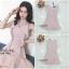 ชุดเดรสเกาหลีพร้อมส่ง Dress แขนกุดคอวีระบายด้านหน้าทั้ง2ด้าน thumbnail 4