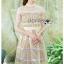 ชุดเดรสเกาหลีพร้อมส่ง เดรสผ้าลูกไม้สีเหลืองพาสเทลสุดหรู thumbnail 7