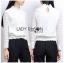 เสื้อผ้าแฟชั่นเกาหลีพร้อมส่ง เสื้อแขนยาวผ้าลูกไม้สีขาวสุดหรู thumbnail 7
