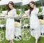 ชุดเดรสเกาหลีพร้อมส่ง เดรสผ้าลูกไม้สีขาวสไตล์เจ้าหญิงสุดหวาน thumbnail 2