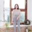 จั๊มสูทผ้าพื้นทรงสวยยยมากกก ขาเดฟนิดๆ thumbnail 4