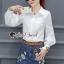 เสื้อผ้าเกาหลีพร้อมส่ง Chic Sticky Blue Flora Set thumbnail 1