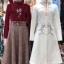 เสื้อผ้าเกาหลีพร้อมส่ง Set เสื้อ+กระโปรง เสื้อทรงสวยคอจีบมีโบตรงคอน่ารัก thumbnail 7
