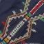 ชุดเดรสเกาหลี พร้อมส่งมินิเดรสผ้าคอตตอนสีน้ำเงินปักลายสไตล์ชนเผ่า thumbnail 14