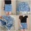 เสื้อผ้าเกาหลีพร้อมส่ง กระโปรงกางเกงยีนส์ ขาสั้น thumbnail 6