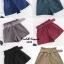 เสื้อผ้าเกาหลีพร้อมส่ง ขาสั้นลูกฟูกเอวจับจีบสไตล์ โควเรียมาพร้อมเข็มขัดอย่างดี thumbnail 11