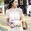 ชุดเดรสเกาหลีพร้อมส่ง เดรสผ้าลูกไม้สีขาวสไตล์แบรนด์ Self-Portrait thumbnail 6
