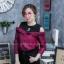 เสื้อผ้าเกาหลีพร้อมส่งเสื้อเชิ้ตแขนยาวต่อผ้ายืดช่วงบน ดีไซน์เปิดไหล่ thumbnail 4