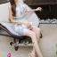 ชุดเดรสเกาหลีพร้อมส่ง Sweet Lace Bule Suquin Dress thumbnail 2