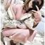 Emma Winter Big Fur-Hood White Denim Jacket thumbnail 3