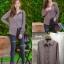 เสื้อผ้าเกาหลีพร้อมส่ง เชิ้ตคอปก แต่งช่วงแชนจั้มน่ารัก thumbnail 3