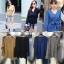 เสื้อผ้าเกาหลีพร้อมส่ง Knit Top เสื้อไหมพรมแขนยาว ทรงคอวี thumbnail 12
