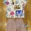 เสื้อผ้าเกาหลี พร้อมส่งเซ็ตเสื้อแขนสั้นพิมพ์ลายและกางเกงขาสั้นสุดชิค thumbnail 12
