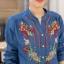 เสื้อผ้าเกาหลีพร้อมส่ง เสื้อยีนส์ปัก ผ้ายีนส์นิ่ม ปักลายแน่นๆทั้งด้านหน้าด้านหลัง thumbnail 7