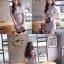 ชุดเดรสเกาหลี พร้อมส่ง เดรสแฟชั่นเกาหลี แต่งดีเทลผ้าลายดอกไม้ใบ้ไม้ สไตล์วินเทจ thumbnail 3