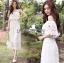 Molly Sweet Feminine Off-Shoulder White Lace Dress thumbnail 5