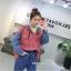 เสื้อผ้าเกาหลีพร้อมส่ง เสื้อแขนยาว ดีเทลช่วงตัวลายสก๊อต thumbnail 4