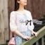 เสื้อผ้าเกาหลี พร้อมส่งเสื้อคลุมผ้าคอตตอนปักลายดอกไม้สไตล์เบสิก thumbnail 3