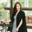 เสื้อผ้าแฟชั่นเกาหลีพร้อมส่ง เสื้อคลุมเบเซอร์สีดำ รุ่นนี้ทรงปล่อยๆ thumbnail 2