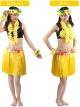 ชุดฮาวายกระโปรงฟาง พร้อมเซตพวงมาลัย รุ่นหนาพิเศษ 40 cm เหลือง