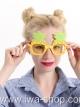 แว่นตาสับปะรดบีชปาร์ตี้