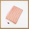ปกหนังสือผ้าสีชมพูลายดอกไม้(มีเสริมฟองน้ำ)