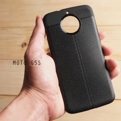 เคส Moto G5s เคสนิ่ม Hybrid เกรดพรีเมี่ยม ลายหนัง (ขอบนูนกันกล้อง) แบบที่ 2 (มีเส้นตรงกลาง)