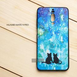 เคส Huawei Mate 9 Pro เคสนิ่ม TPU พิมพ์ลาย (ขอบดำ) แบบที่ 5
