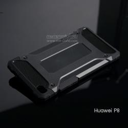 เคส Huawei P8 เคสบั๊มเปอร์ (เสริมขอบกันกระแทก) สีดำ Hybrid Protection