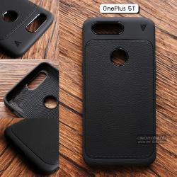 เคส OnePlus 5T เคสนิ่ม Hybrid เกรดพรีเมี่ยม ลายหนัง (ขอบนูนกันกล้อง) แบบที่ 1