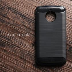 เคส Moto E4 Plus เคสนิ่มกันกระแทก (Texture ลายโลหะขัด) ลดรอยนิ้วมือ สีดำ
