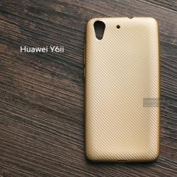 เคส Huawei Y6II เคสนิ่มลายเคฟล่า สีทอง