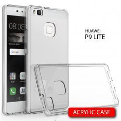 เคส Huawei P9 Lite เคส Hybrid ฝาหลังอะคริลิคใส ขอบยางกันกระแทก สีใส