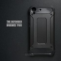 เคส Huawei Y6II เคสบั๊มเปอร์ (เสริมขอบกันกระแทก) สีดำ Hybrid Protection