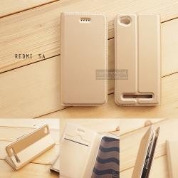 เคส Xiaomi Redmi 5A เคสฝาพับเกรดพรีเมี่ยม เย็บขอบ พับเป็นขาตั้งได้ สีทอง (DUX DUCIS)