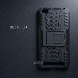 เคส Redmi 5A เคสบั๊มเปอร์ กันกระแทก Defender (พร้อมขาตั้ง) สีดำ